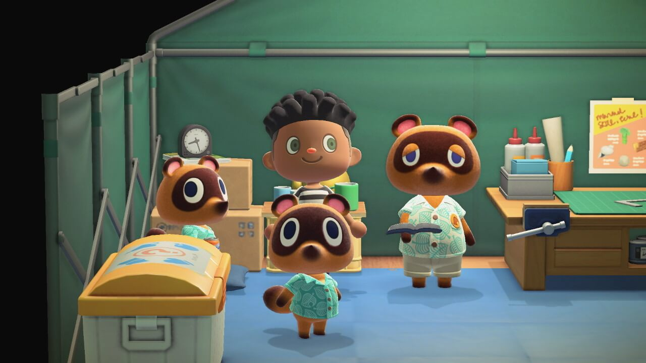 Tanooki in Animal Crossing.