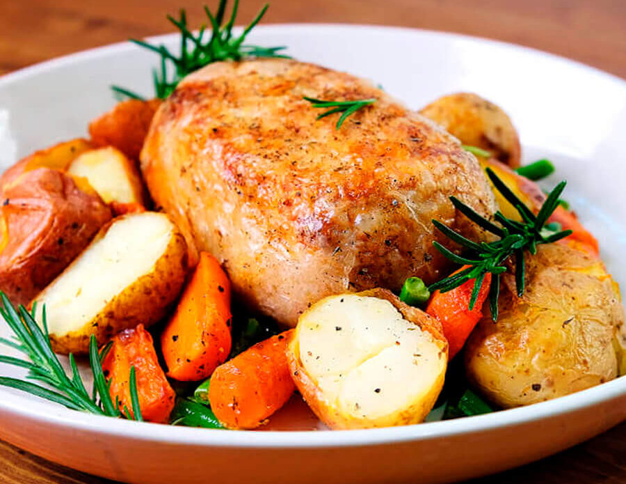 Unreal Co's chick'n vegan roast